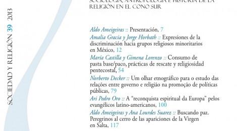 [Publicaciones] Sociedad y Religión Nº39