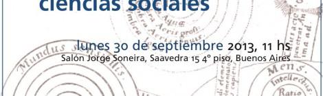 [Conferencia] Estudios de la memoria y ciencias sociales