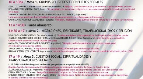 "II Reunión del grupo CLACSO Religión, espiritualidades y poder ""Religión y problemas sociales"""