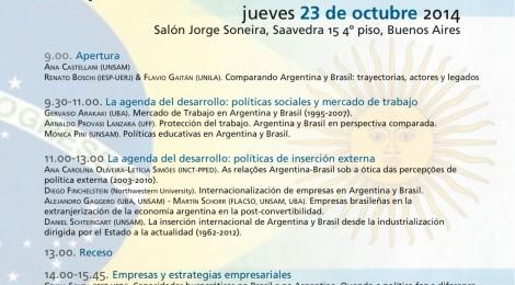 [Taller] Políticas y trayectorias de desarrollo. Brasil y Argentina en perspectiva comparada