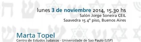 Conferencia La Incorporación de símbolos judíos en denominaciones cristianas brasileñas: un terreno no explorado