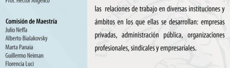 [Formación] Maestría en Ciencias Sociales del Trabajo UBA Convocatoria Inscripción Ciclo 2015-2016