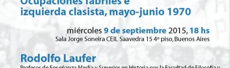 [Seminario] El clasismo en el SMATA Córdoba. Ocupaciones fabriles e izquierda clasista, mayo-junio 1970 / Rodolfo Laufer