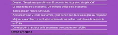 [Artículo] La formación de economistas en Argentina y Uruguay / S. Buraschi, F. Ciribeni, N. Dvoskin, J. Fanzini, M. Fernández Massi, G. Olmedo Sosa y V. Viega