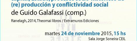 [Presentación del libro] Apuntes de acumulación: capital, Estado, procesos socio-históricos de (re) producción y conflictividad social / Guido Galafassi (comp.)