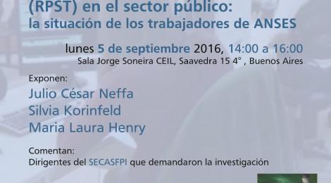 [Charla] Los riesgos psicosociales en el trabajo en el sector público / Julio Neffa, Silvia Korinfeld, Laura Henry