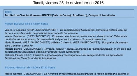 [Workshop] Sociedad, territorio y producción en el espacio rural pampeano