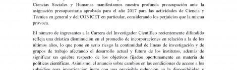 Declaración de directores y directoras de Unidades Ejecutoras de Ciencias Sociales y Humanas de CONICET