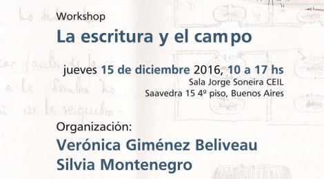 [Workshop] La escritura y el campo / Verónica Giménez Béliveau y Silvia Montenegro