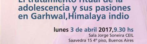 [Conferencia] El tratamiento ritual de la adolescencia y sus pasiones en Garhwal / Serena Bindi