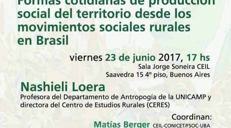 [Conversatorio]  Formas cotidianas de producción social del territorio desde los movimientos sociales rurales en Brasil / Nashieli Loera