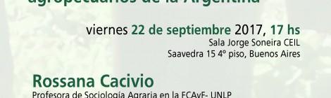 [Conversatorio] Factores de riesgo psicosocial en contextos laborales de extensionistas agropecuarios de la Argentina / Rossana Cacivio