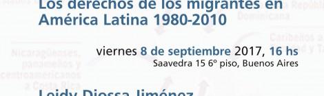 [Charla debate] Ciudadanía extraterritorial: los derechos de los migrantes en América Latina 1980-2010 / Leidy Diossa Jiménez