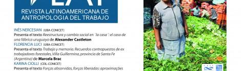[Ciclo de debate] Revista Latinoamerica de Antropología del Trabajo