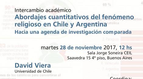 [Intercambio académico] Abordajes cuantitativos del fenómeno religioso en Chile y Argentina / David Viera