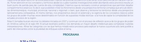 [II° Jornadas] Pensar los grupos de poder en América latina: conceptos y territorios