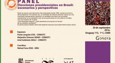 [Panel] Elecciones presidenciales en Brasil / Paula Lenguita, Alejandro Grimson y Ariel Goldstein