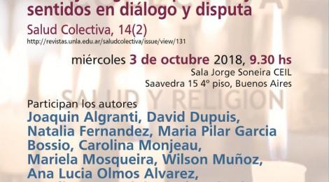 [Presentación] Salud y religiones: prácticas y sentidos en diálogo y disputa