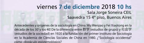 [Conferencia CEIL/CIMI-GyS CONICET-SHU] ¿Sociología china? La construcción de una disciplina / Zhang Jingting y Martín Rozengardt