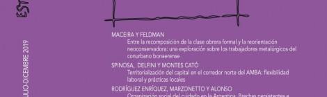 [Artículo] Territorialización del capital en el corredor norte del AMBA: flexibilidad laboral y prácticas locales / Lucas Spinosa, Marcelo Delfini y Juan Montes Cató
