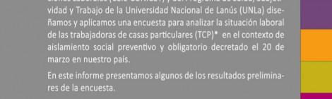 [Informe] Encuesta a trabajadoras/es de casas particulares y su situación laboral en el contexto de aislamiento por la pandemia de Covid-19 en la Argentina