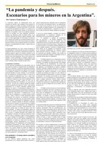 Prensa GeoMinera Edición N° 244 Edicion del mes de Mayo de 2020 - nota