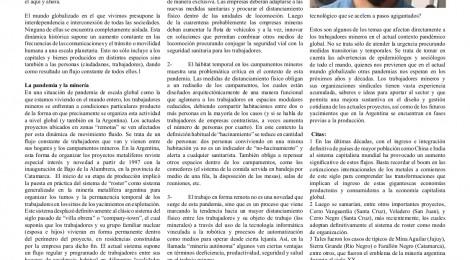 [Artículo] La pandemia y después. Escenarios para los mineros en la Argentina / Lautaro Clemenceau