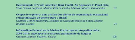 [Artículo] Informalidad laboral en la fabricación de ropa en Argentina entre 2003-2018 / Gustavo Ludmer y Federico Favata