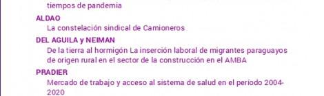 [Artículo]  De la tierra al hormigón La inserción laboral de migrantes paraguayos de origen rural en el sector de la construcción en el Área Metropolitana de Buenos Aires / Alvaro Del Aguila y Guillermo Neiman